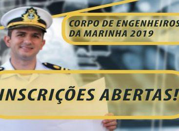 Corpo de Engenheiros da Marinha abre concurso com 54 vagas