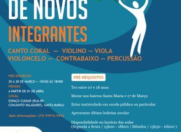 Orquestra Jovem de Sergipe abre seleção para novos integrantes