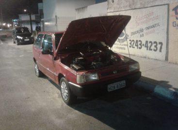 Polícia militar recupera veículo roubado no conjunto Inácio Barbosa