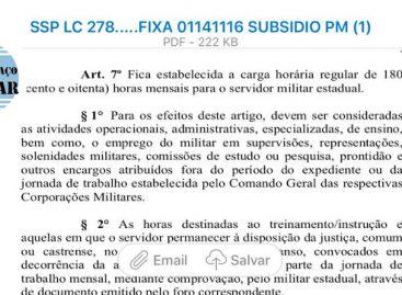 Bombeiro Militar expressa sua indignação sobre carga horário no CBM/SE