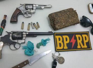 BPRP apreende duas armas, prende seis pessoas e recupera carro no carnaval