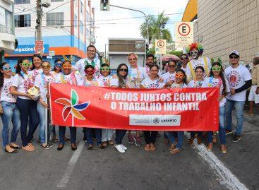 """Prefeitura de Lagarto: """"Neste Carnaval, o trabalho infantil vai rodar"""""""