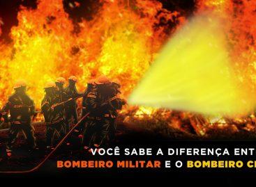 Bombeiro Militar e Bombeiro Civil: Entenda as diferenças entre as duas categorias