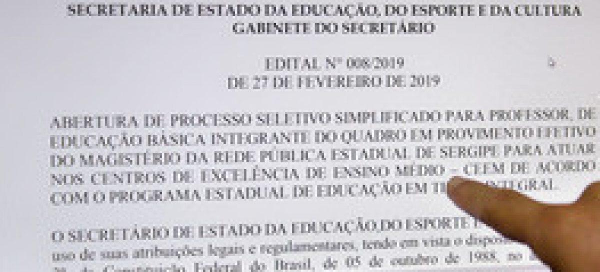 Inscrições para o Processo Seletivo Simplificado para professores foram prorrogadas