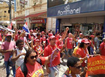 14º Siri na Lata agita Centro de Aracaju contra Reforma da Previdência