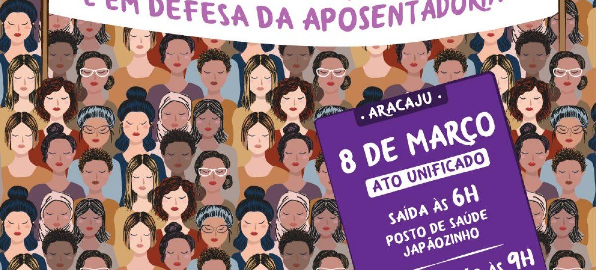 Mulheres de Sergipe contra violência, racismo e em defesa da aposentadoria