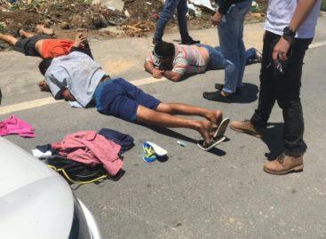 Trio sergipano é preso após praticar assalto em Alagoas
