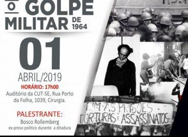 'O Golpe Militar de 1964' é tema da palestra de Bosco Rollemberg no dia 1/4
