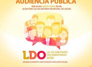 Prefeitura de Socorro realizará audiência pública para apresentar e discutir a Lei de Diretrizes Orçamentárias (LDO) de 2020