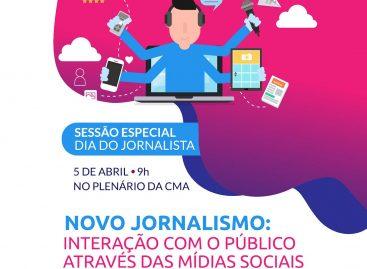 Sessão especial celebra o dia do Jornalista na Câmara de Aracaju