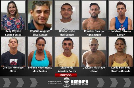 SSP prende 11 suspeitos por venda de drogas no interior