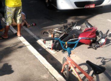 Acidente envolvendo moto e ônibus deixa mais uma vitima fatal