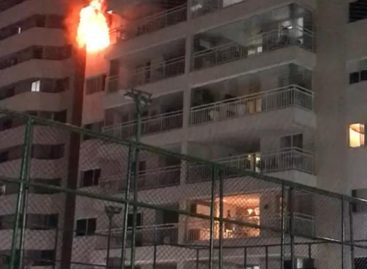 Incêndio atinge apartamento do condomínio Harmonie Jardins em Aracaju