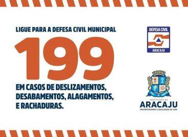 Prefeitura de Aracaju monitora previsão de chuvas e mantém atenção