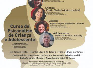 Curso de Psicanálise da Criança e do Adolescente acontece no dia 13 de abril