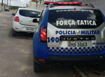 PM recupera veículo com restrição de roubo no Santa Tereza
