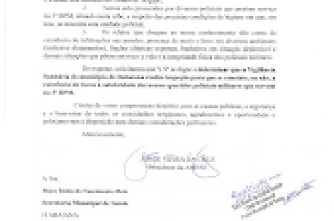 Amese oficia defesa civil e vigilância sanitária de Itabaiana