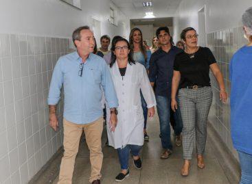 Secretário de Estado da Saúde visita obras do Hospital Regional de Glória