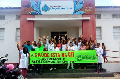 Funcionários fazem paralisação de 24 horas no Hospital São João de Deus