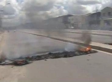 Moradores realizam protesto e pedem fechamento de canal no bairro Olaria
