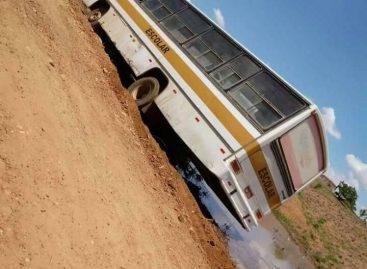 Princípio de incêndio em ônibus escolar põe em risco estudantes de Aparecida