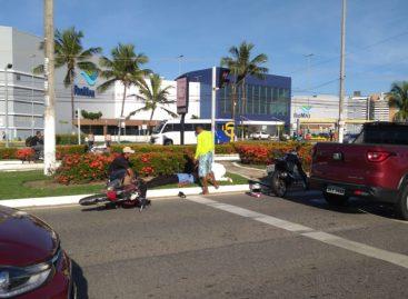 Acidente com motocicleta deixa uma pessoa ferida em Aracaju
