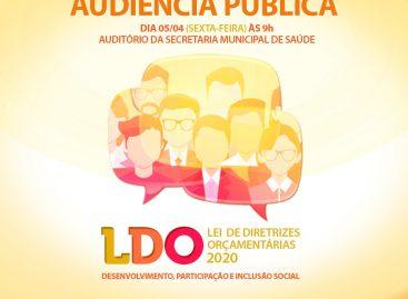 Prefeitura de Socorro realizará audiência pública para apresentar e discutir a LDO de 2020