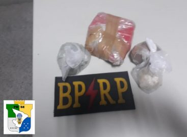 Policiais da Radiopatrulha apreendem 800 gramas de crack no Santos Dumont