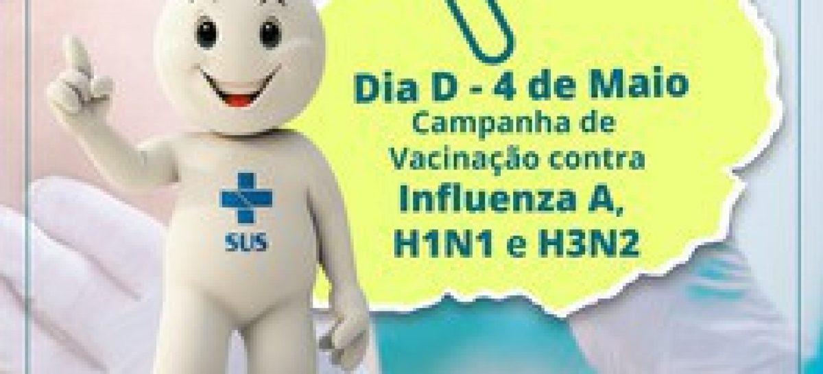 Neste sábado, todas as Unidades de Saúde estarão abertas para o dia D da vacinação contra a gripe