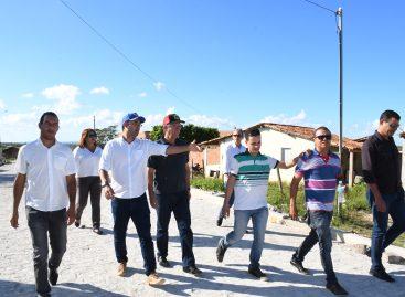 Laércio visita obras em Campo do Brito feitas com recursos de emendas parlamentares
