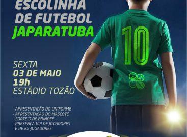 Prefeita Lara lança na sexta escolinha de futebol no município de Japaratuba