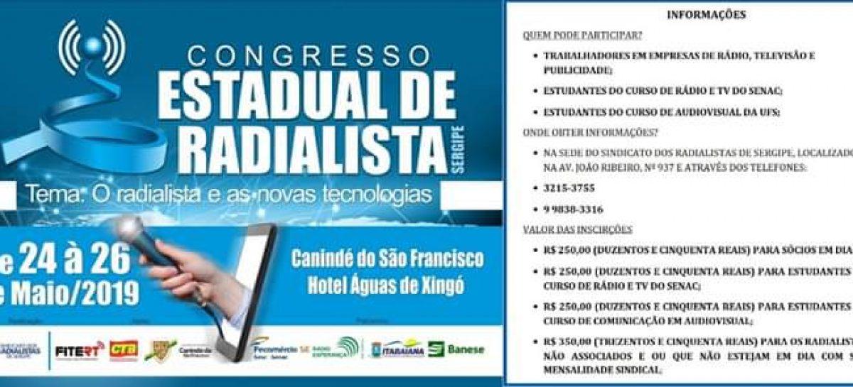 Sindicato dos Radialistas de Sergipe realizará o Congresso Estadual de Radialismo