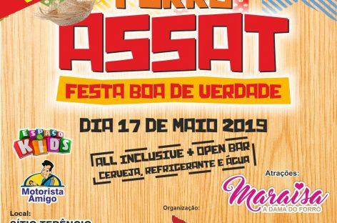 Forró Assat dá pontapé para os festejos juninos no próximo dia 17 maio
