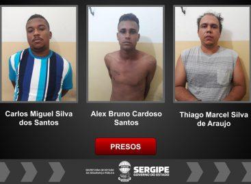 Cope prende três suspeitos de roubarem o ponto Banese do povoado em Lagarto