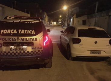 Polícia militar recupera veículo no Santa Maria instantes após o roubo