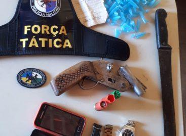 PM apreende arma calibre 12 após troca de tiros no Santa Maria em Aracaju