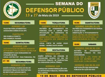 Defensoria Pública realiza Semana do Defensor Público com diversas ações