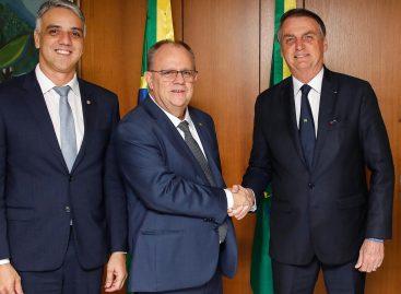Governador Belivaldo Chagas é recebido pelo presidente Jair Bolsonaro