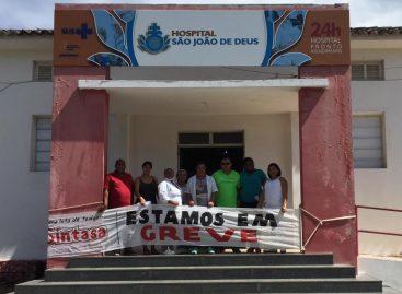Funcionários do São João de Deus continuam paralisação com apoio do Sintasa