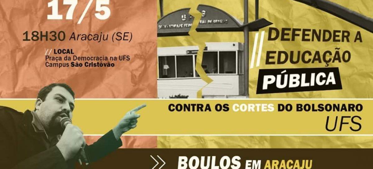 Guilherme Boulos participa hoje de debate na UFS contra os cortes na educação