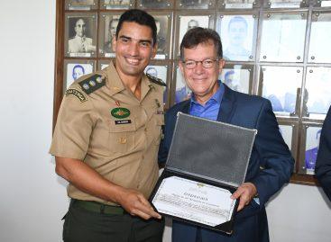 Laércio Oliveira é homenageado pelo 28º Batalhão de Caçadores
