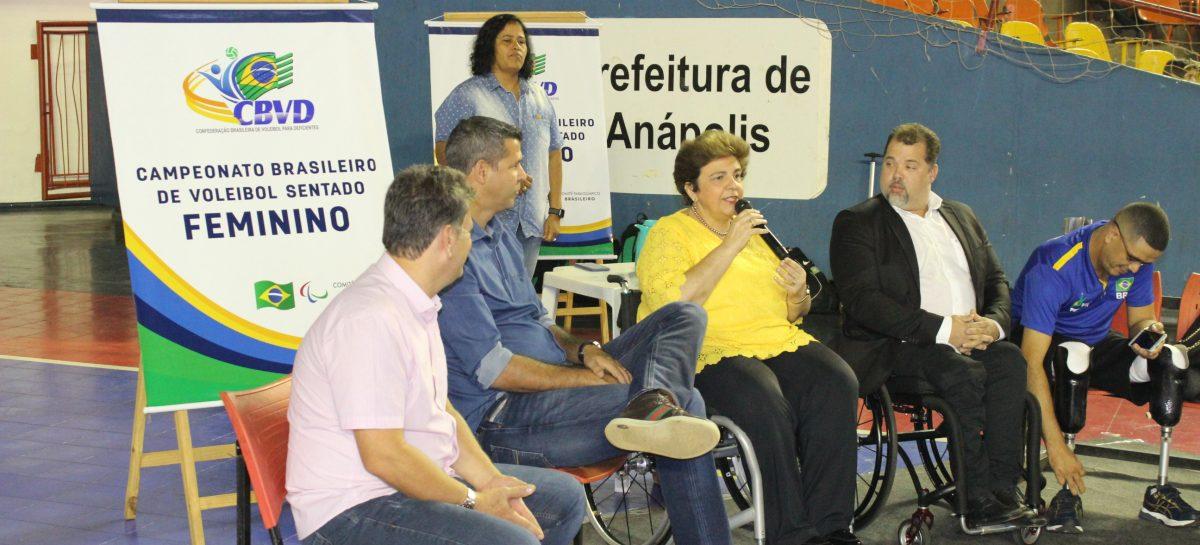 Campeonato Brasileiro de Voleibol Sentado Feminino é aberto em Goiás