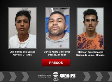 PC realiza operação e prende três suspeitos de crimes em Lagarto