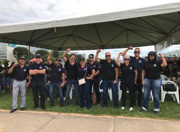 Sinpol/SE participa de mobilização em Brasília por uma previdência igualitária
