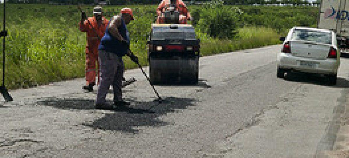 Serviços da Operação Tapa Buraco prosseguem nas rodovias sergipanas