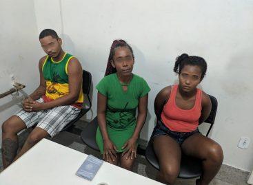 Trio sequestra taxista, realizam assaltos e são presos por policiais militares