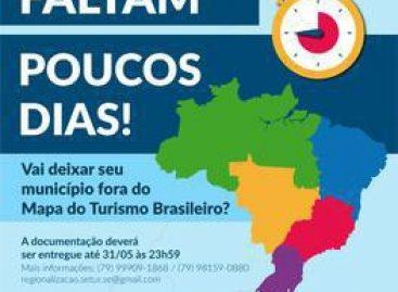 Prazo para cadastro no Mapa do Turismo encerra no dia 31 de maio