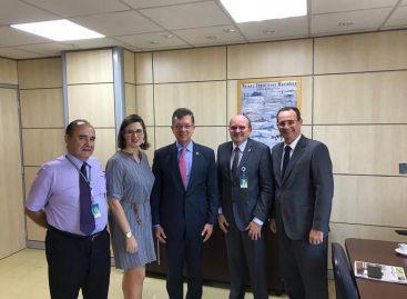 Zezinho Sobral vai ao Ministério da Agricultura e trata das obras do Terminal Pesqueiro
