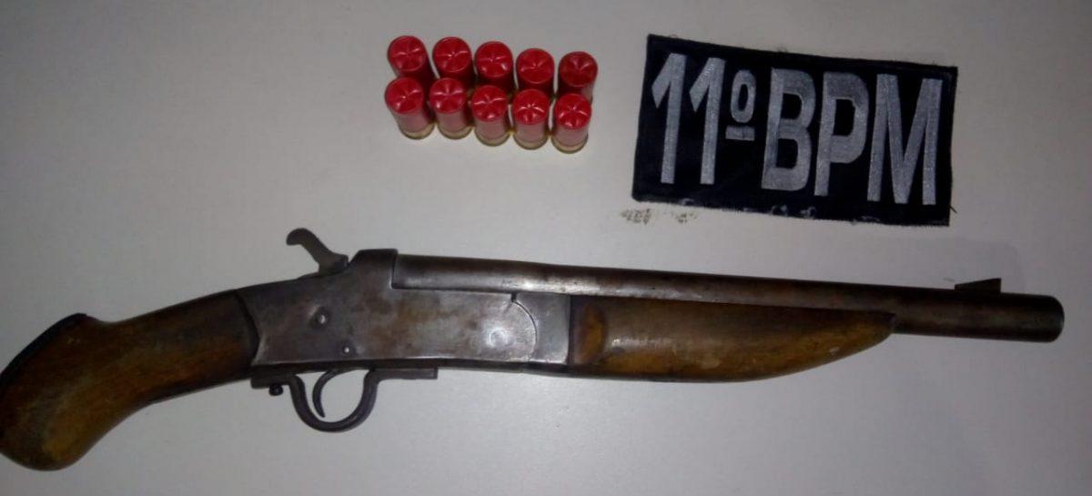 Segurança de empresa privada é preso com escopeta e munições