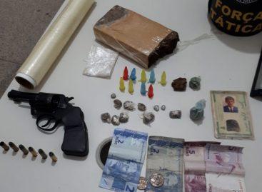 PM prende homem com meio quilo de maconha e arma no São Conrado